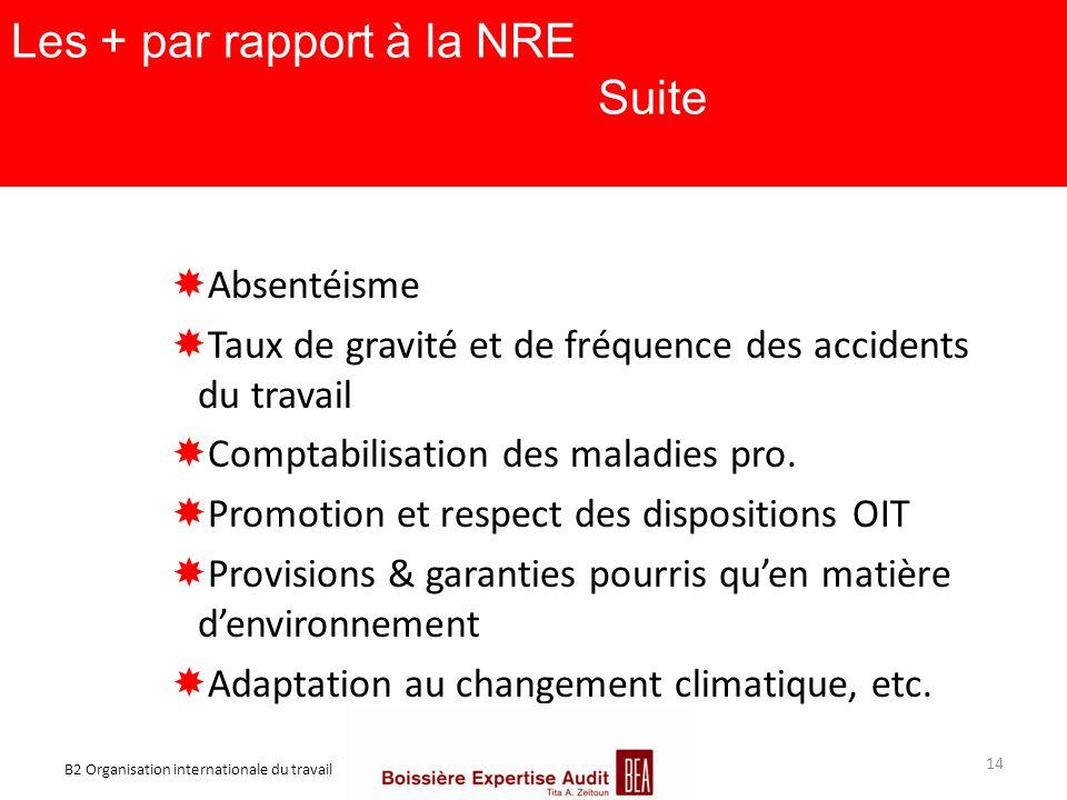 Les + par rapport à la NRE Suite