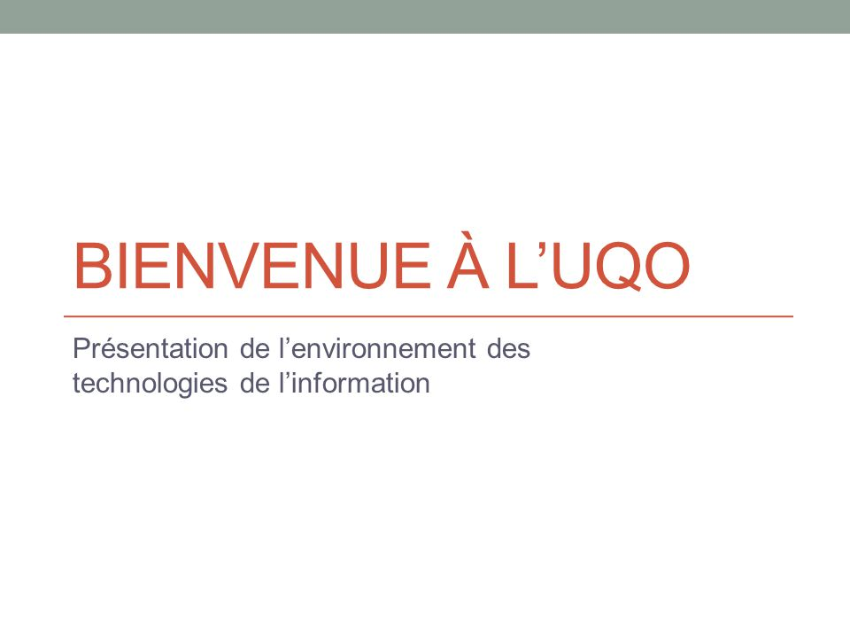Présentation de l'environnement des technologies de l'information
