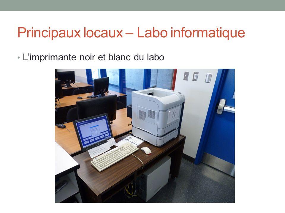 Principaux locaux – Labo informatique
