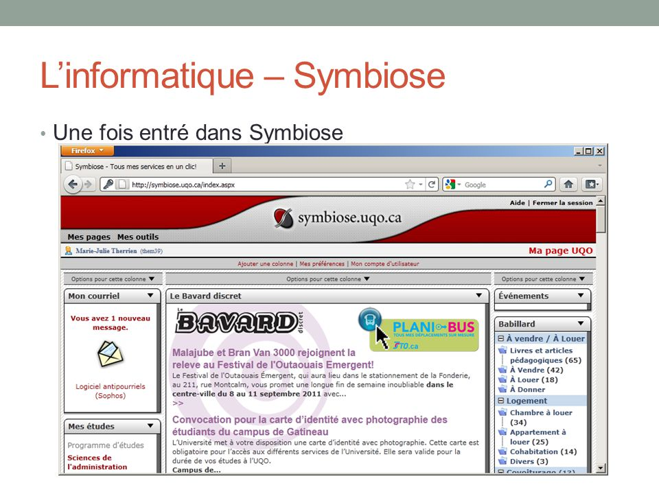 L'informatique – Symbiose