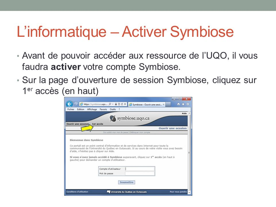 L'informatique – Activer Symbiose
