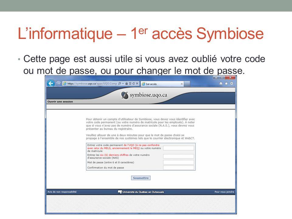L'informatique – 1er accès Symbiose