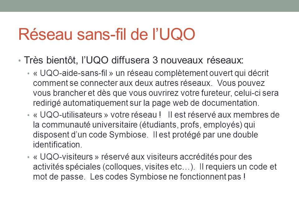 Réseau sans-fil de l'UQO