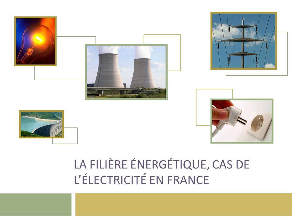 La filière énergétique, cas de l'électricité en France