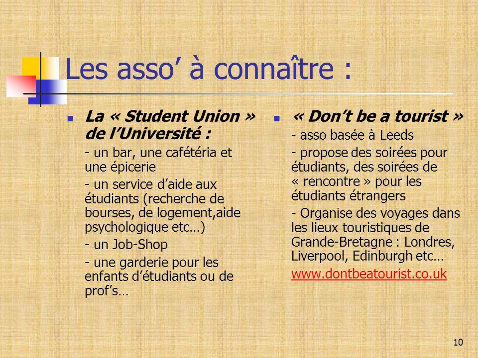Les asso' à connaître : La « Student Union » de l'Université :