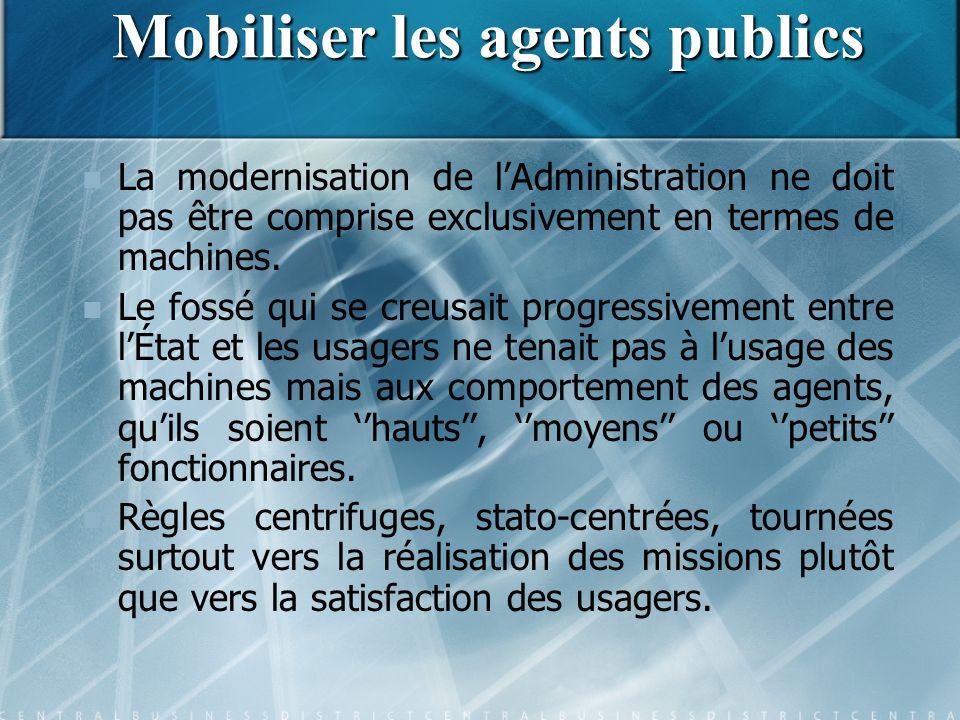 Mobiliser les agents publics