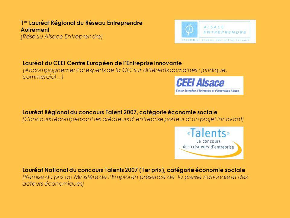 1er Lauréat Régional du Réseau Entreprendre