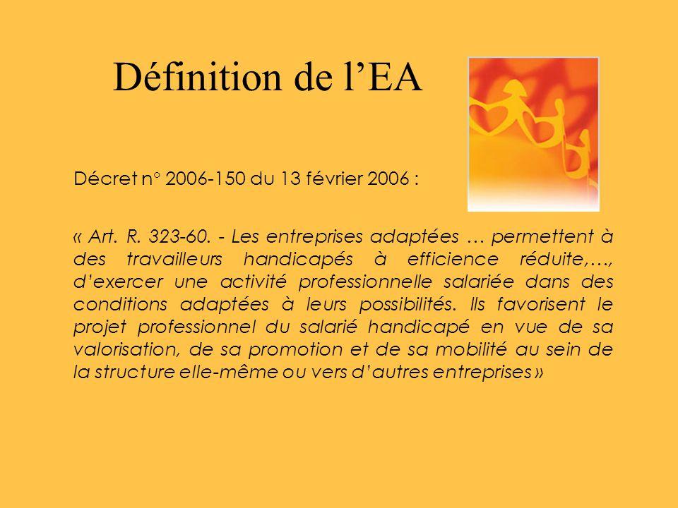 Définition de l'EA Décret n° 2006-150 du 13 février 2006 :