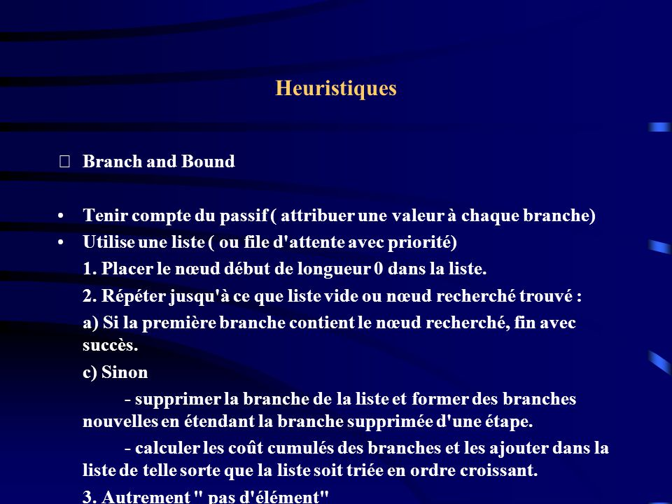 Heuristiques Branch and Bound