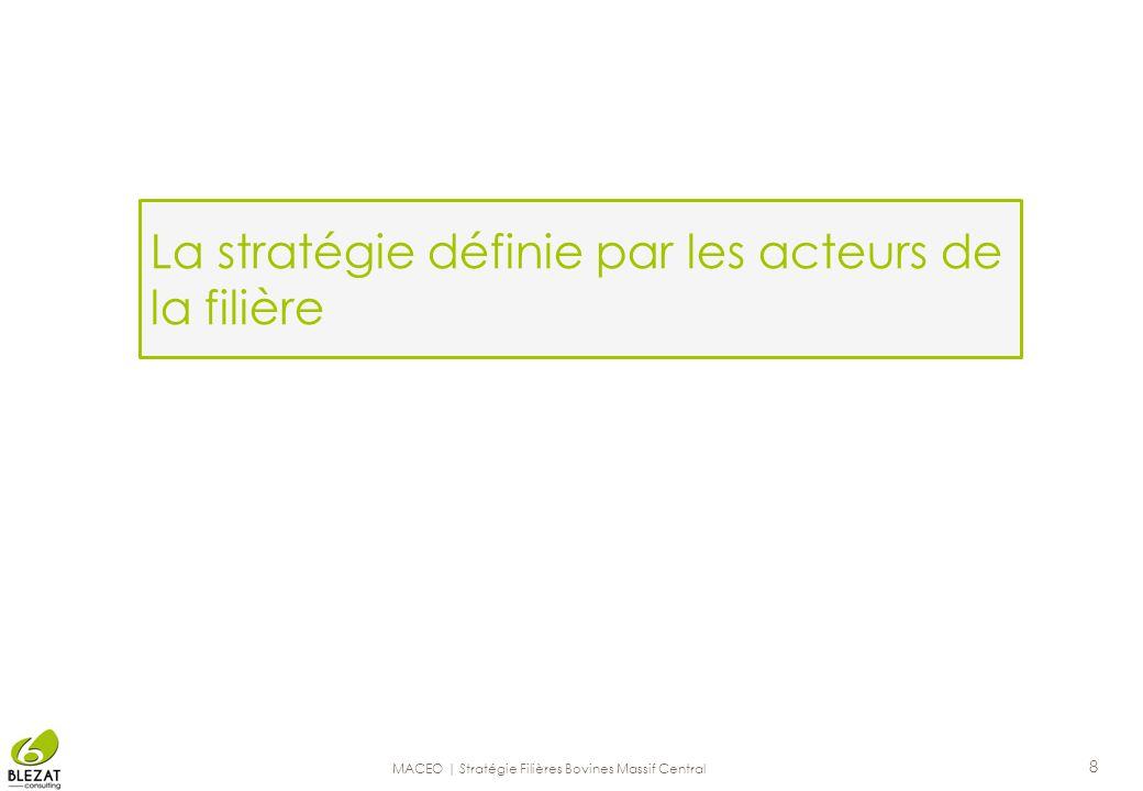 La stratégie définie par les acteurs de la filière
