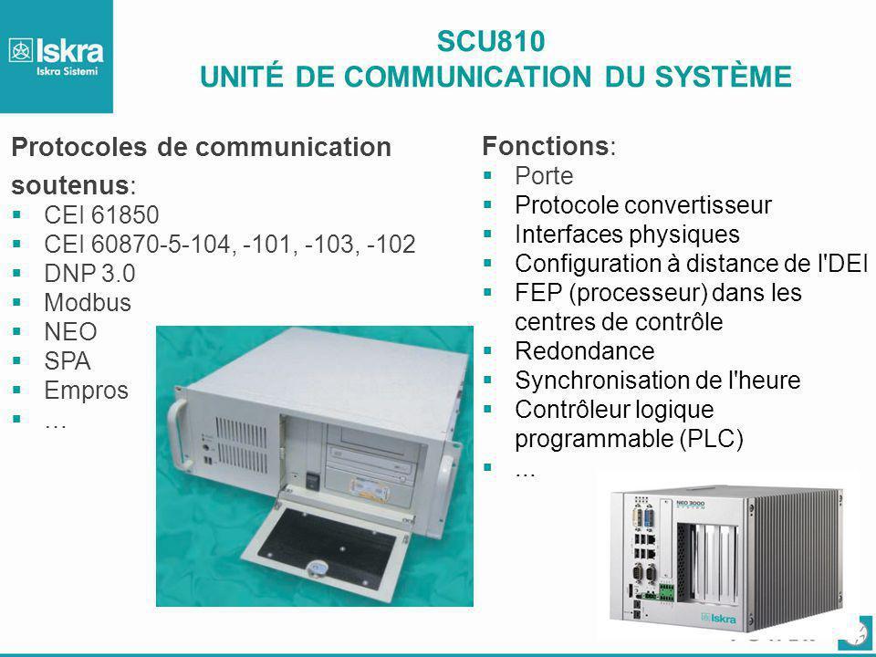 SCU810 UNITÉ DE COMMUNICATION DU SYSTÈME
