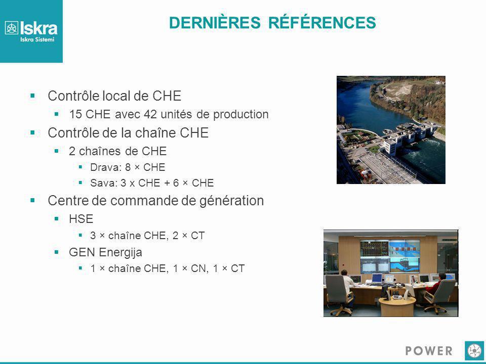 DERNIÈRES RÉFÉRENCES Contrôle local de CHE Contrôle de la chaîne CHE