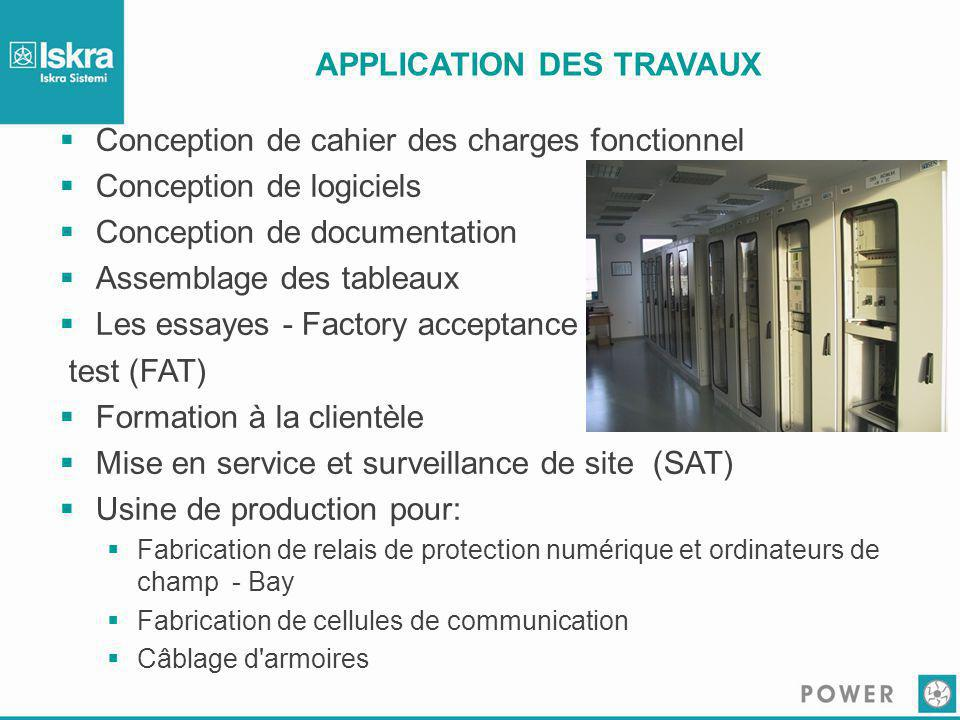 APPLICATION DES TRAVAUX