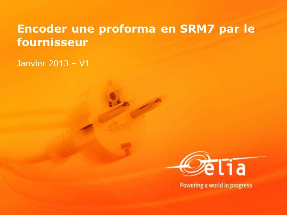 Encoder une proforma en SRM7 par le fournisseur