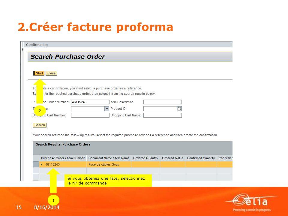 2.Créer facture proforma