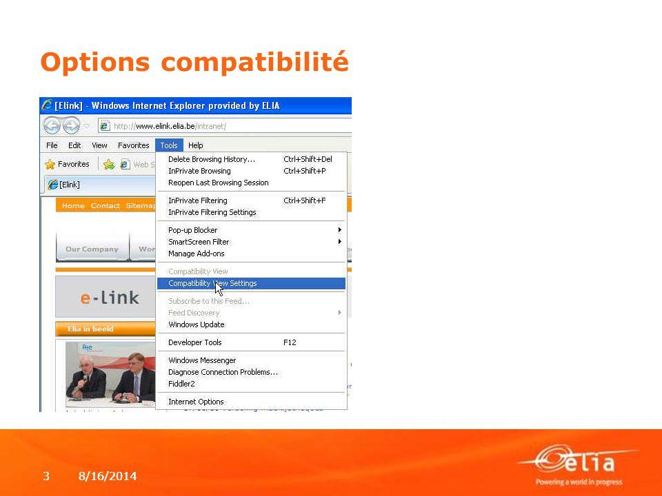 Options compatibilité
