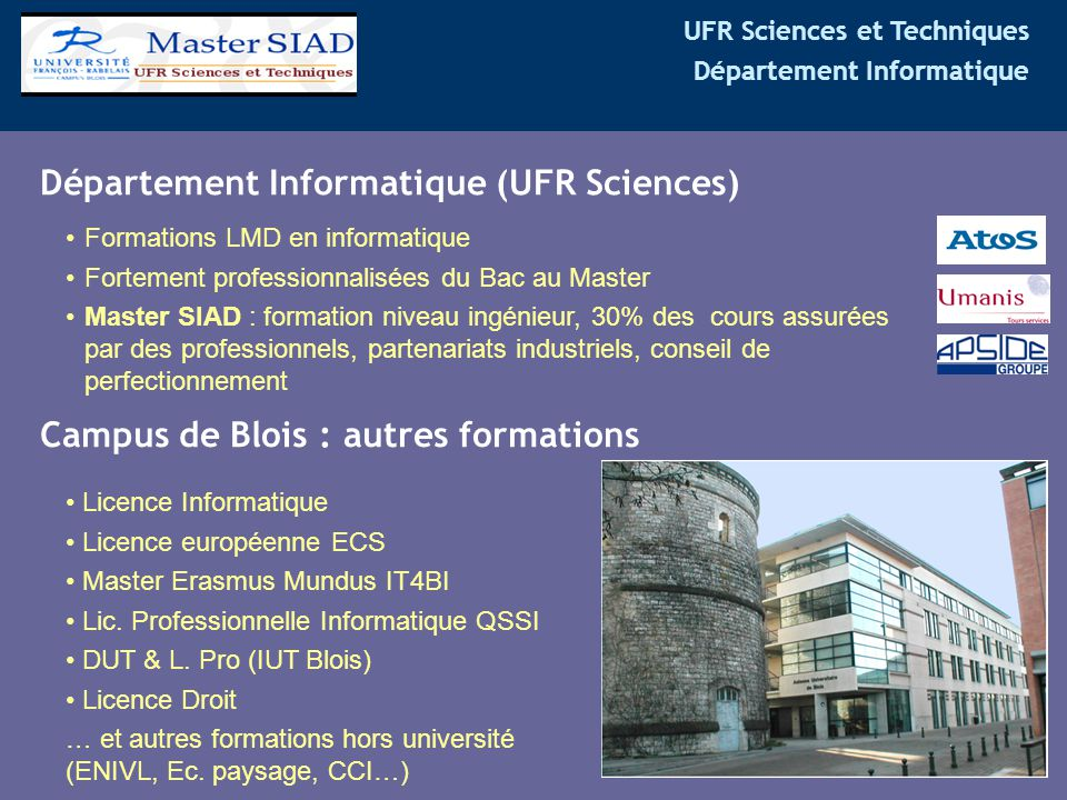 Département Informatique (UFR Sciences)