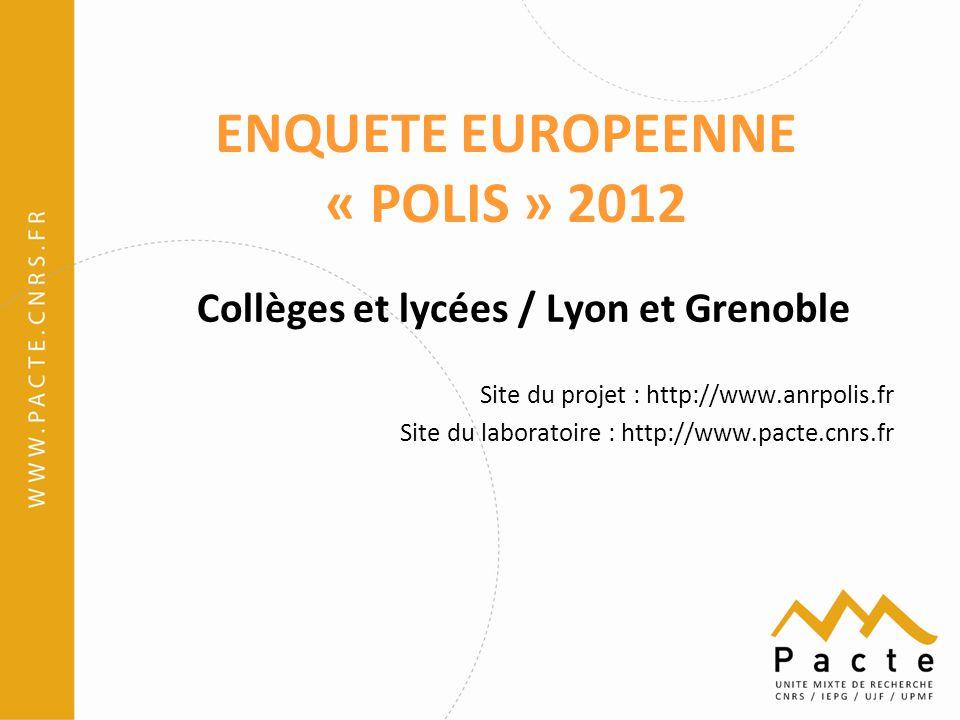 ENQUETE EUROPEENNE « POLIS » 2012
