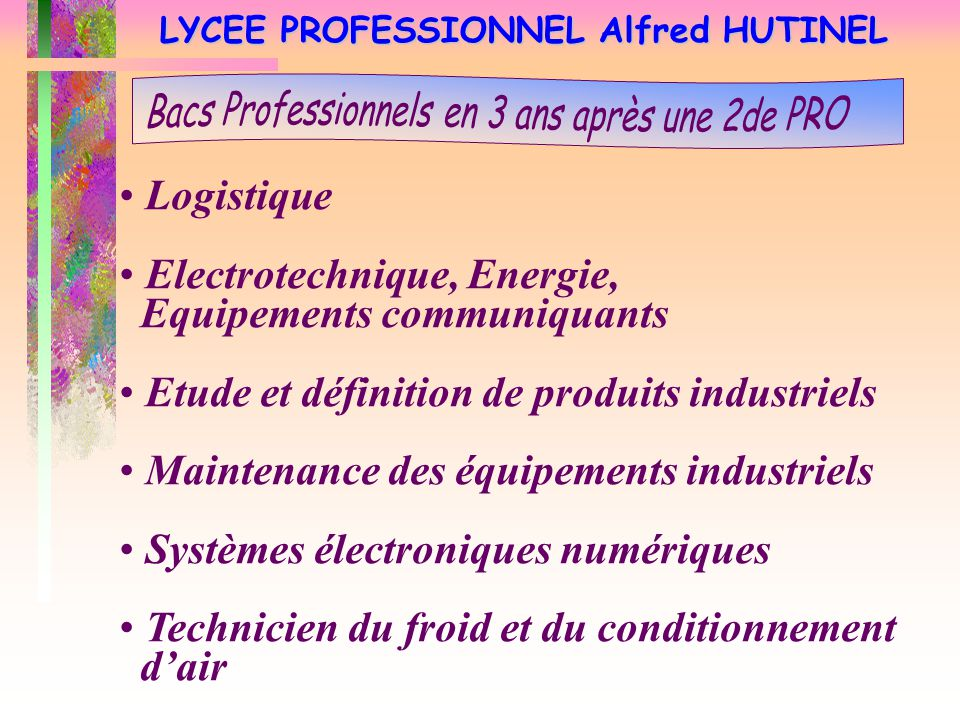 LYCEE PROFESSIONNEL Alfred HUTINEL