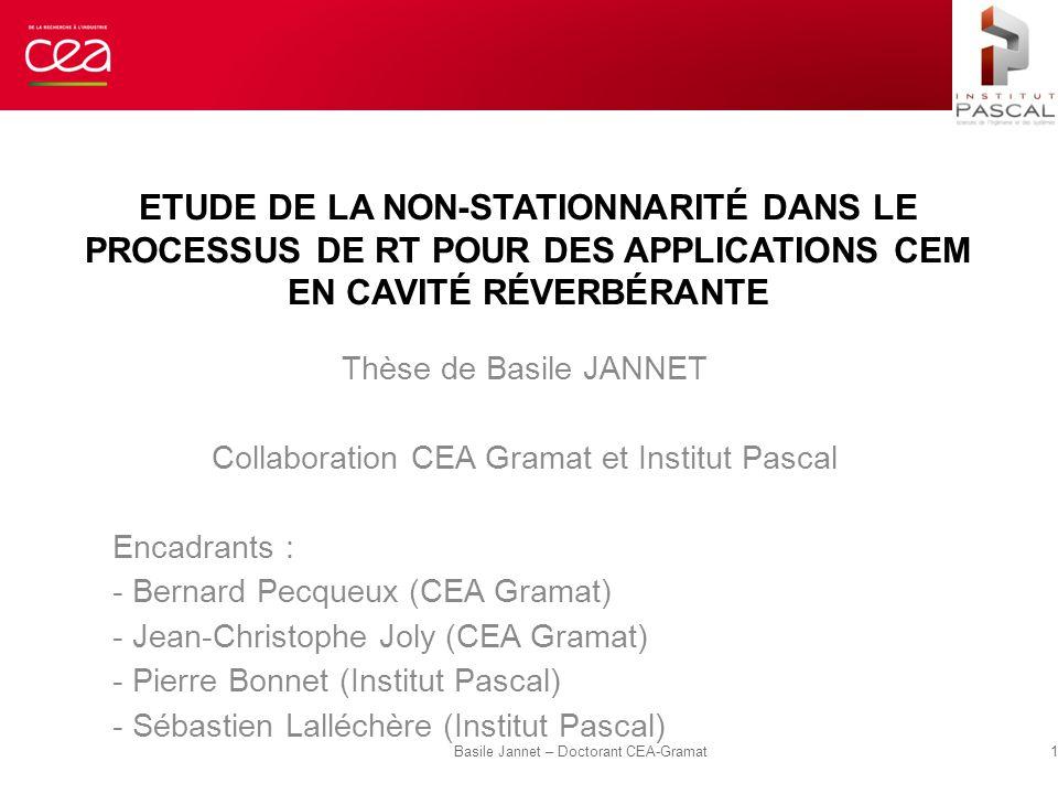 Etude de la non-stationnarité dans le processus de RT pour des applications CEM en cavité réverbérante