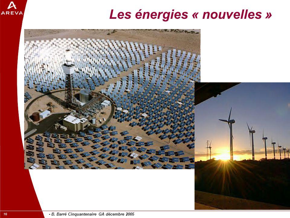 Les énergies « nouvelles »