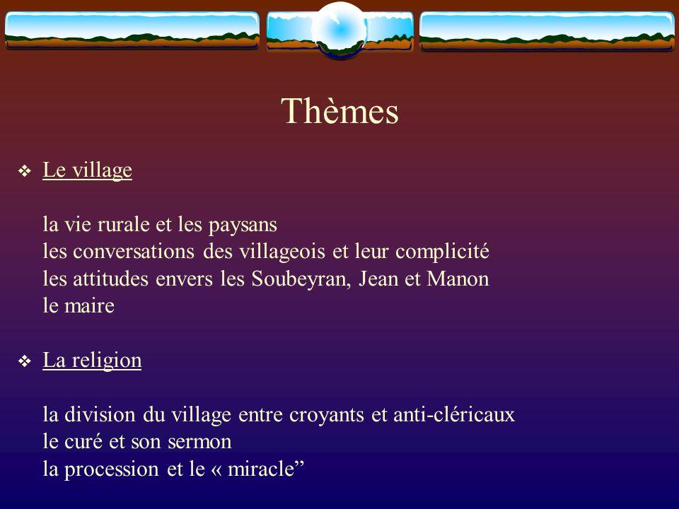 Thèmes Le village la vie rurale et les paysans
