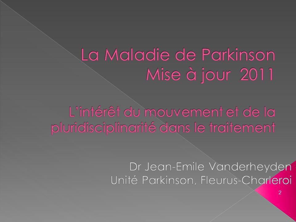 Dr Jean-Emile Vanderheyden Unité Parkinson, Fleurus-Charleroi