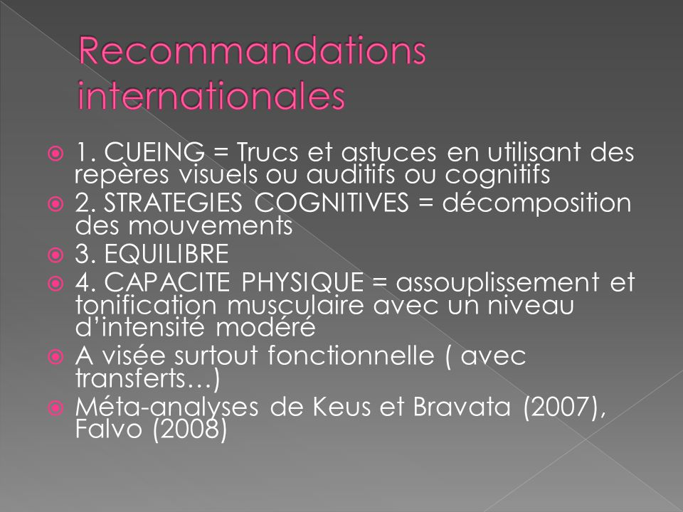 Recommandations internationales