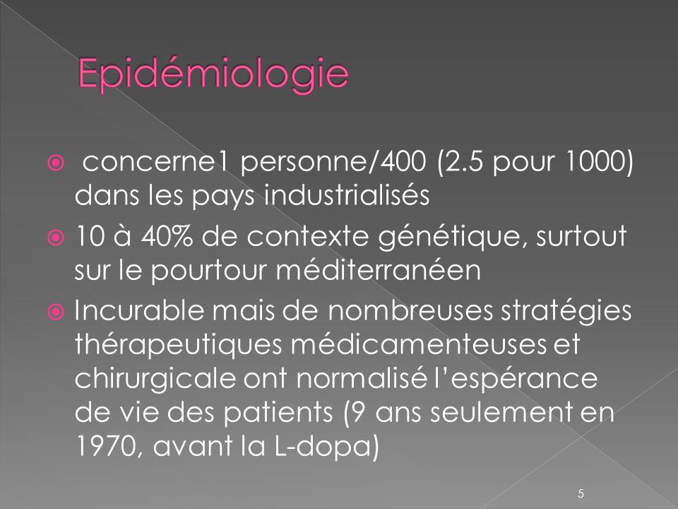 Epidémiologie concerne1 personne/400 (2.5 pour 1000) dans les pays industrialisés.