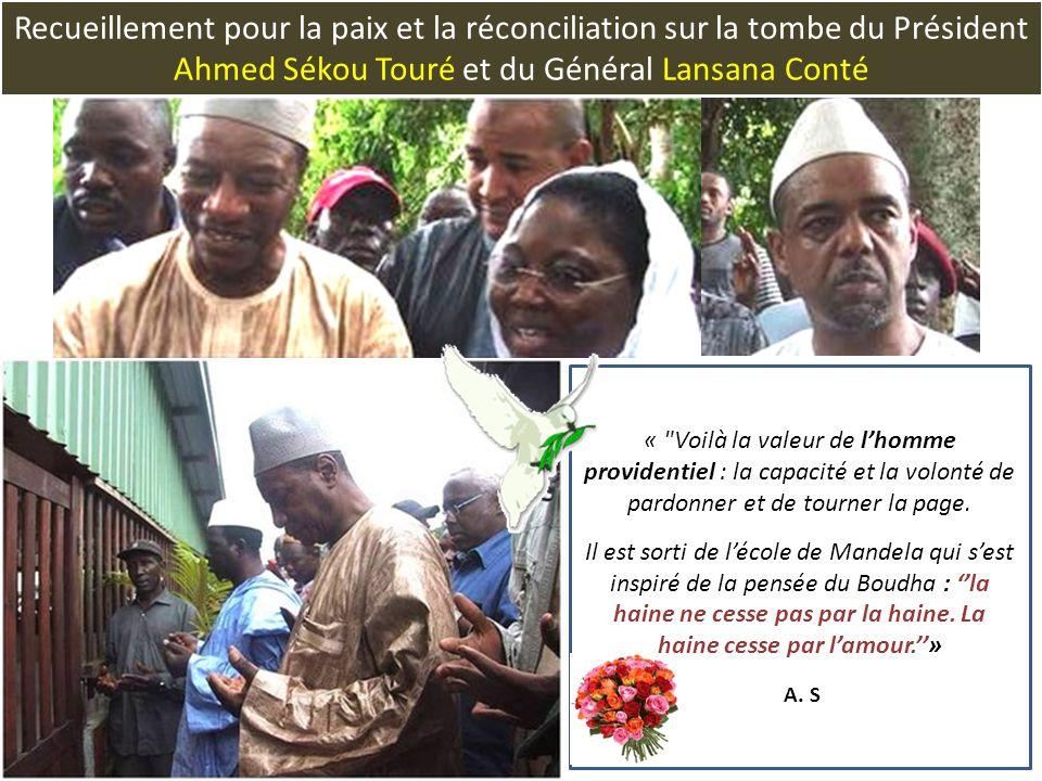Recueillement pour la paix et la réconciliation sur la tombe du Président Ahmed Sékou Touré et du Général Lansana Conté