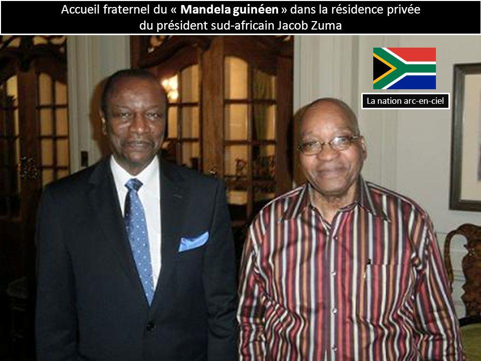 Accueil fraternel du « Mandela guinéen » dans la résidence privée