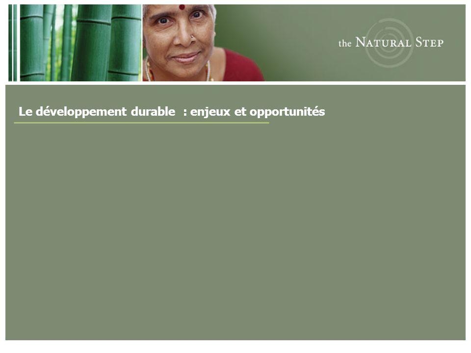 Le développement durable : enjeux et opportunités