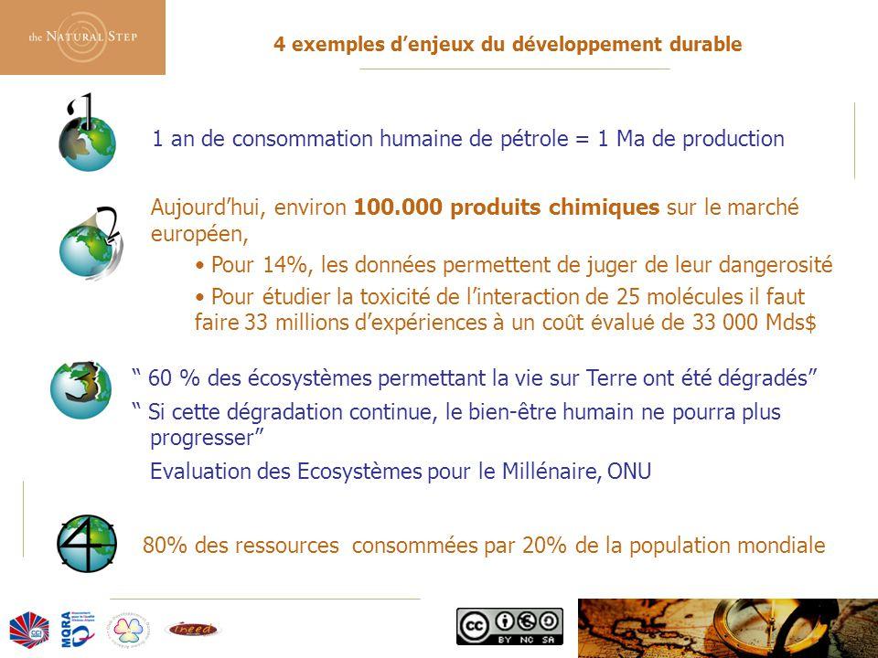 4 exemples d'enjeux du développement durable