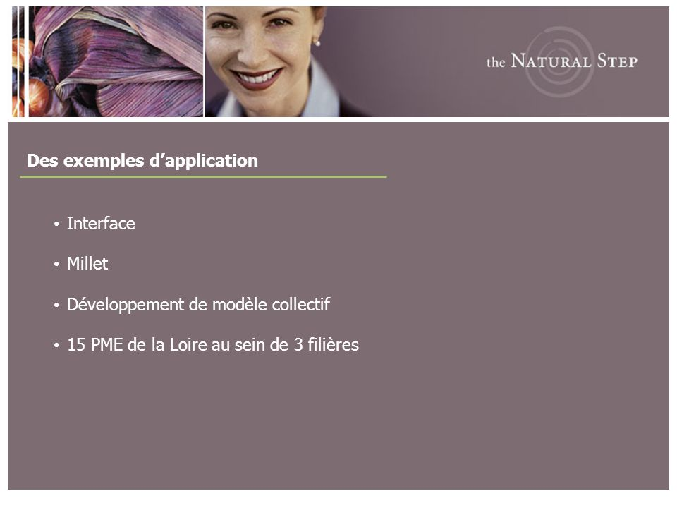 Des exemples d'application