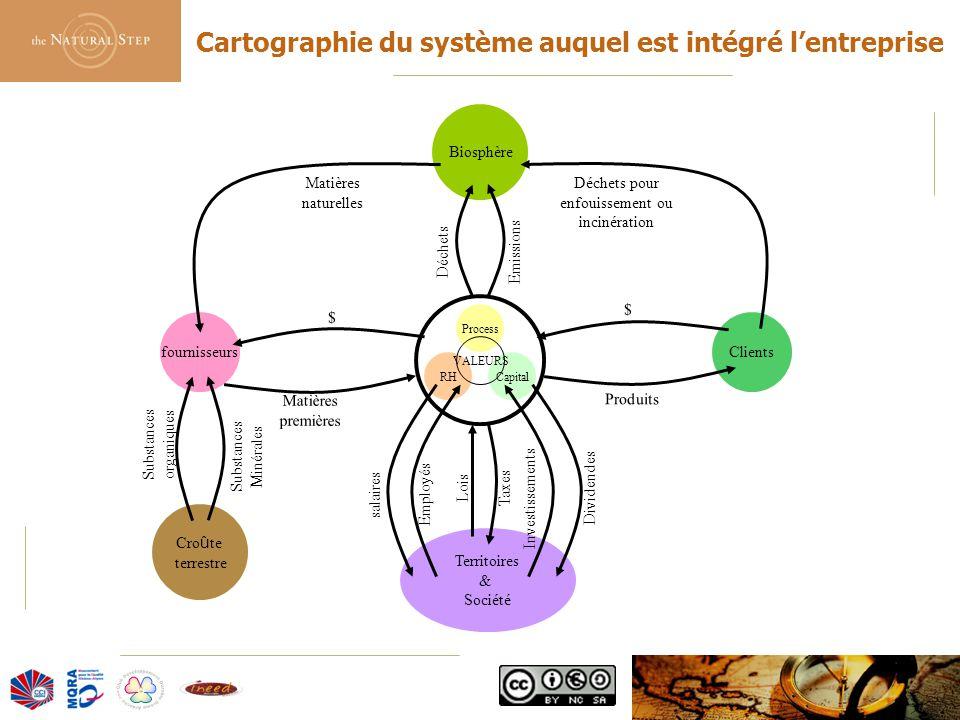 Cartographie du système auquel est intégré l'entreprise