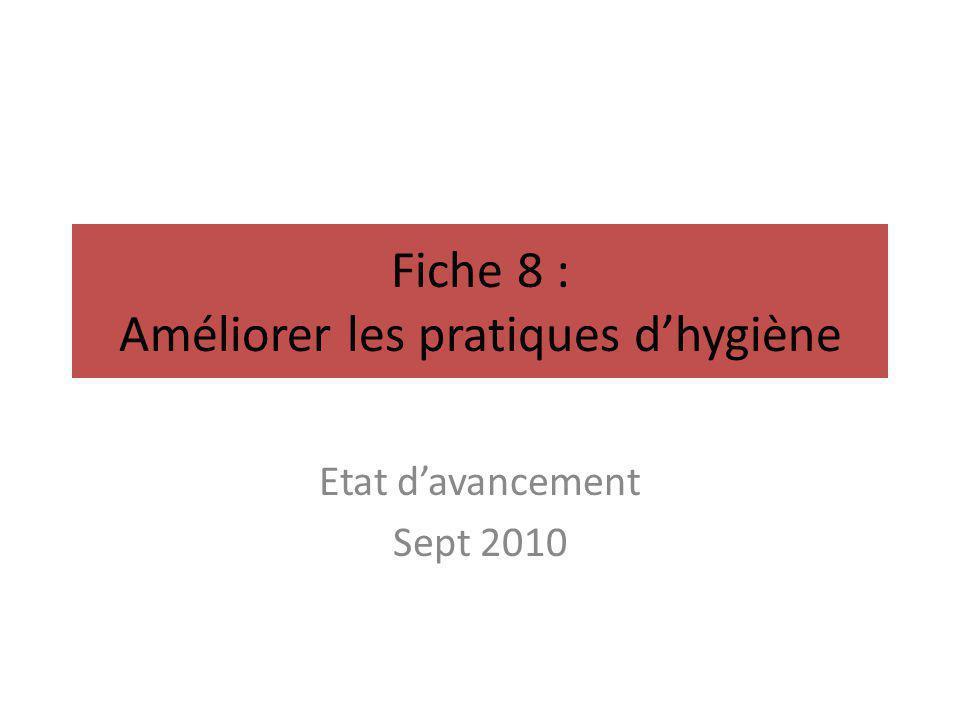 Fiche 8 : Améliorer les pratiques d'hygiène