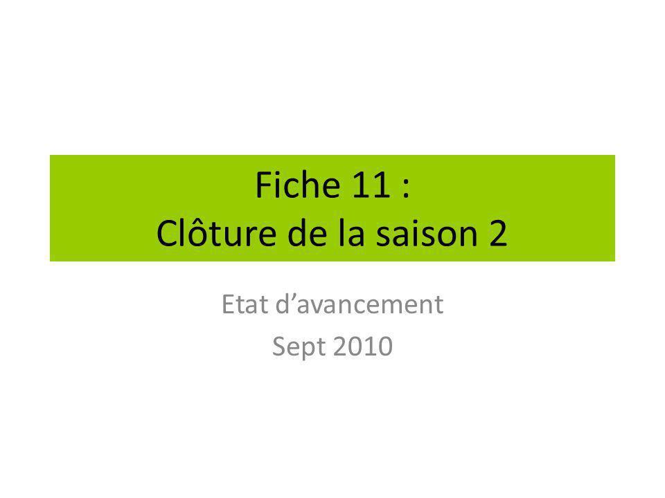 Fiche 11 : Clôture de la saison 2