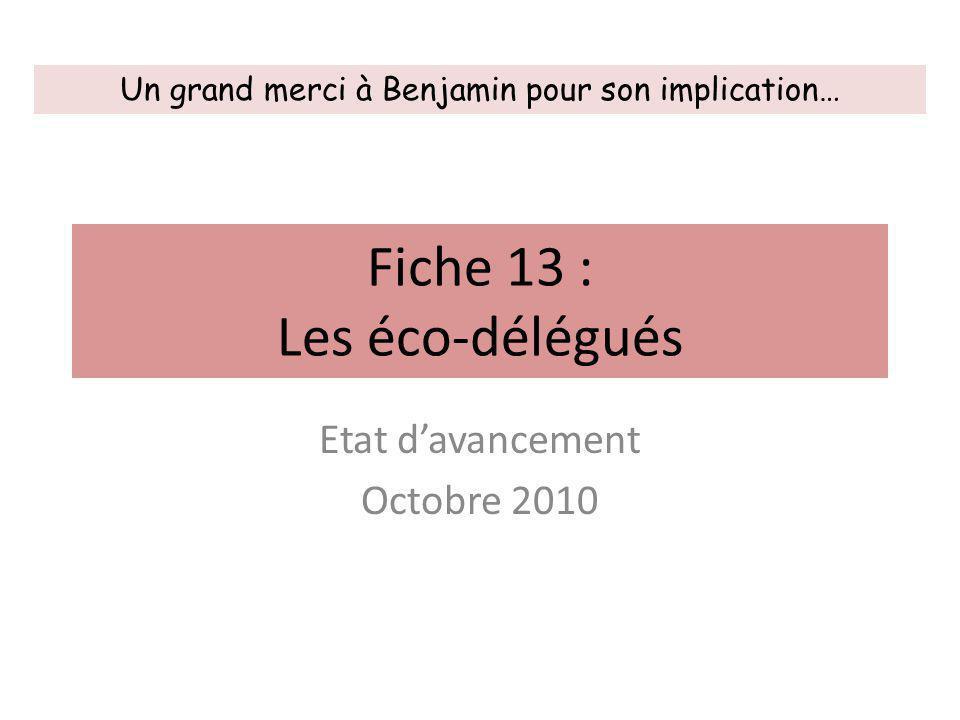 Fiche 13 : Les éco-délégués
