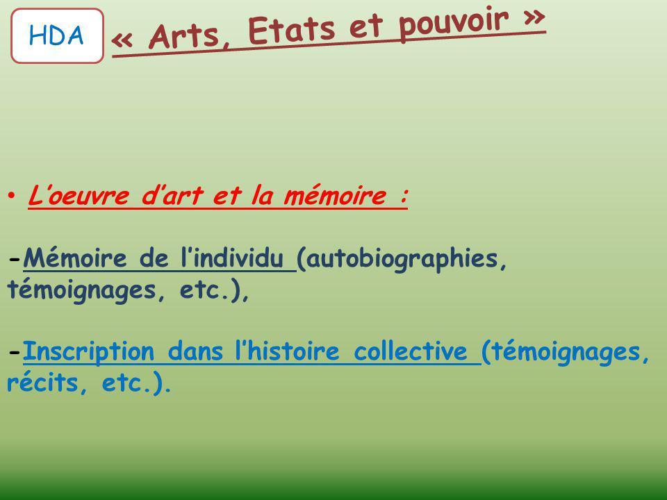 « Arts, Etats et pouvoir »