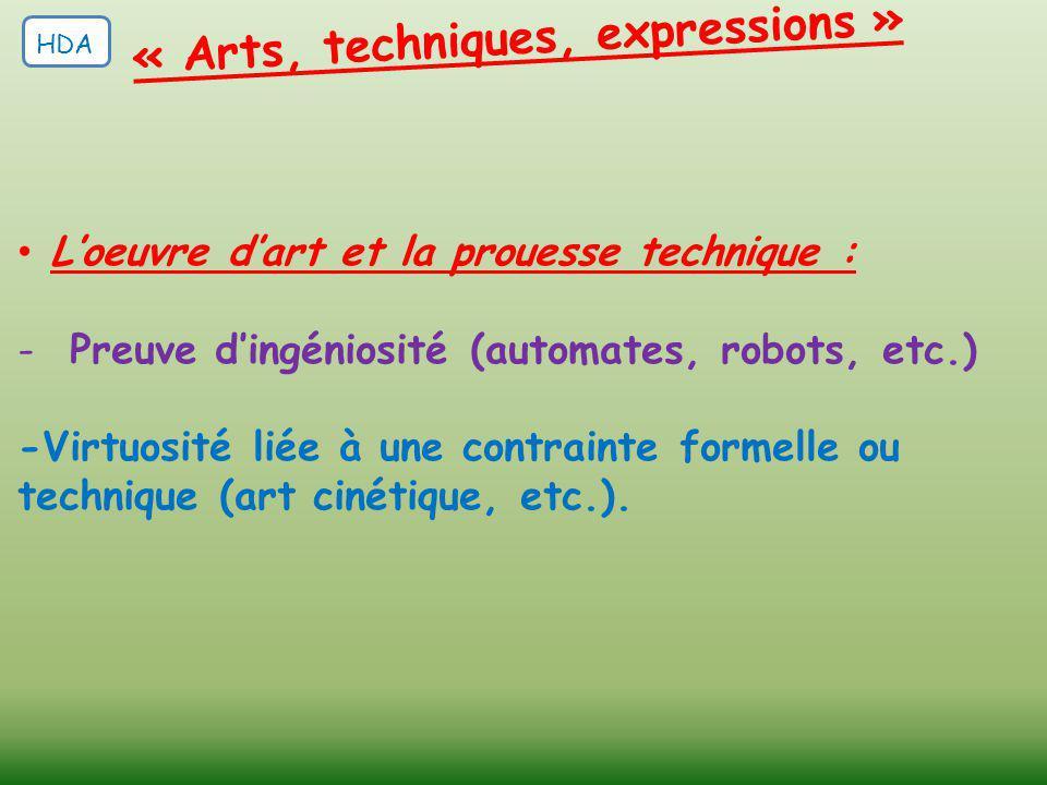 « Arts, techniques, expressions »