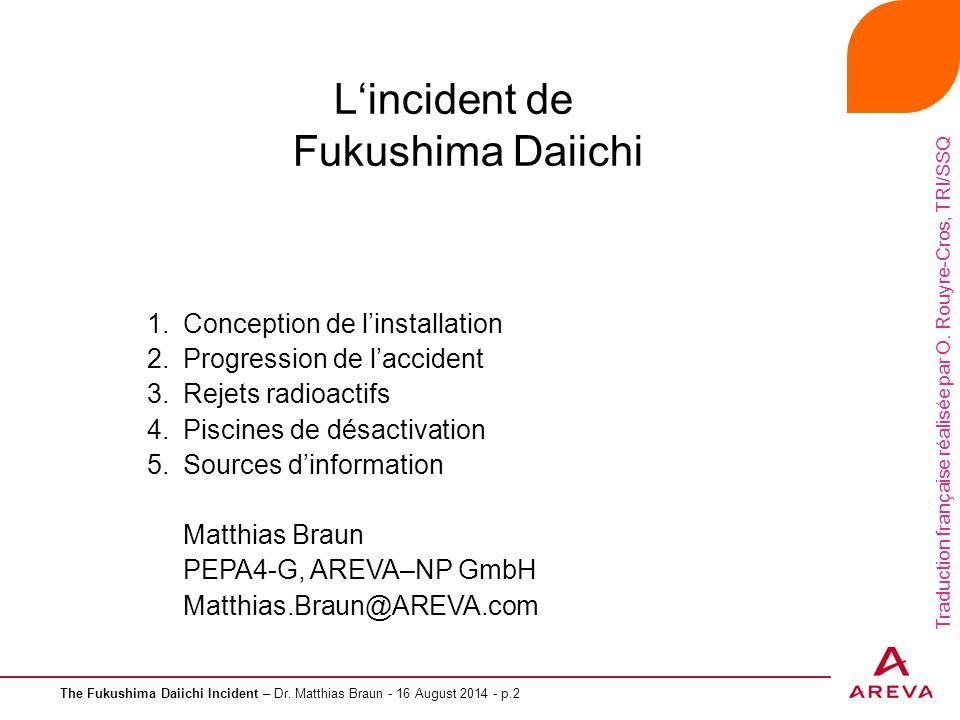L'incident de Fukushima Daiichi