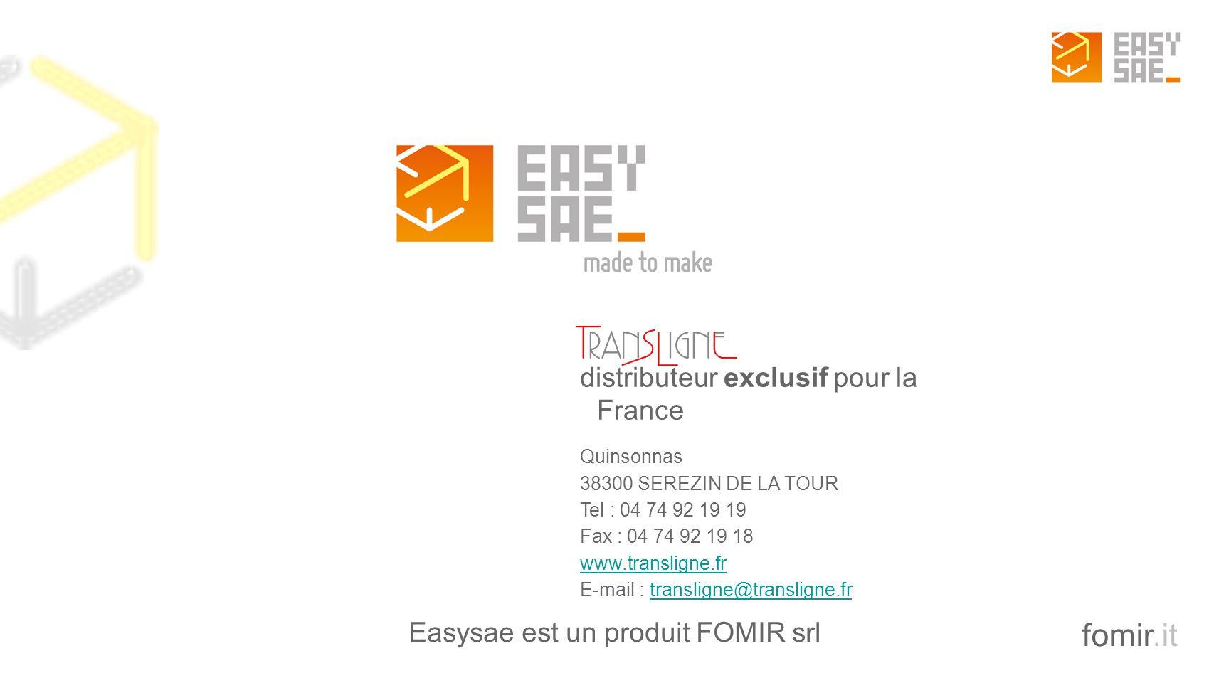 Easysae est un produit FOMIR srl