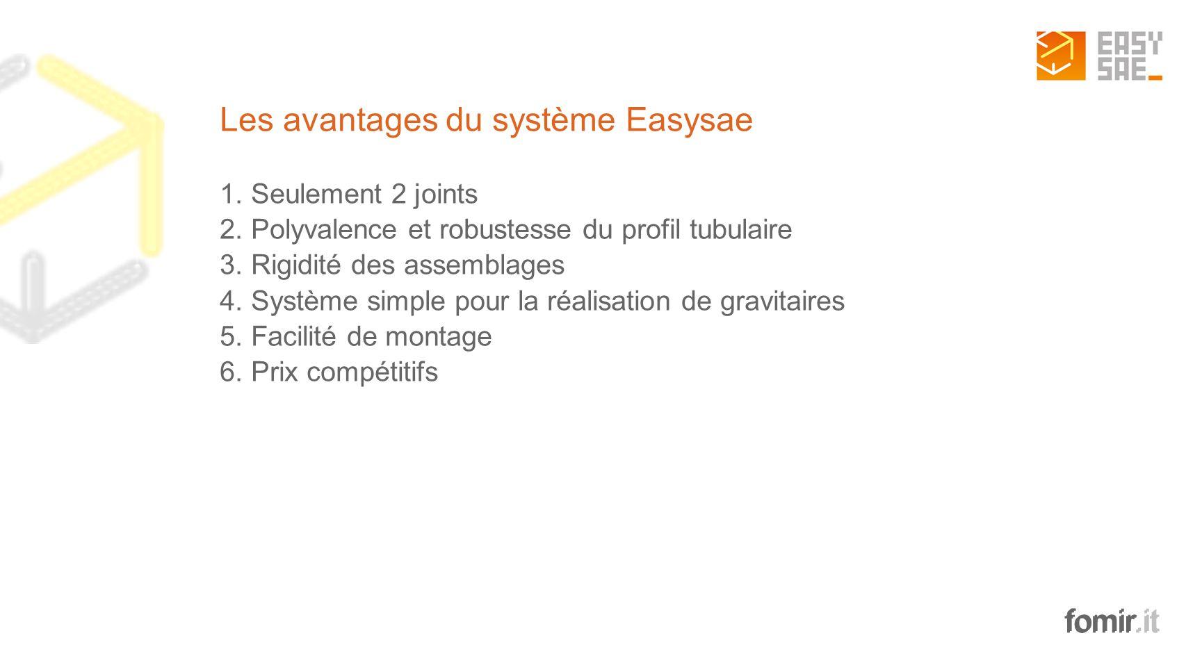 Les avantages du système Easysae