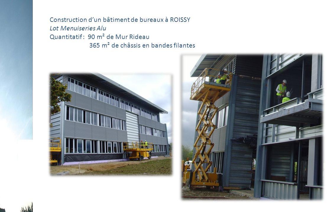 Construction d'un bâtiment de bureaux à ROISSY