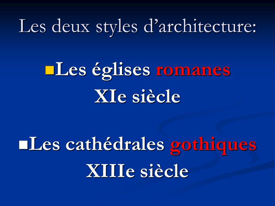 Les deux styles d'architecture: