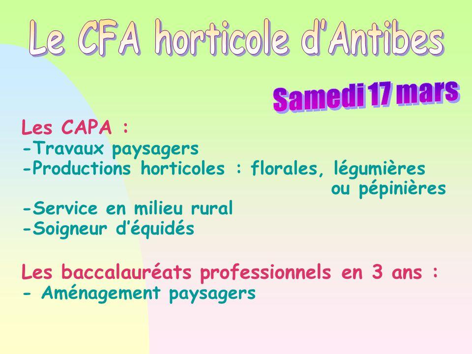 Le CFA horticole d'Antibes