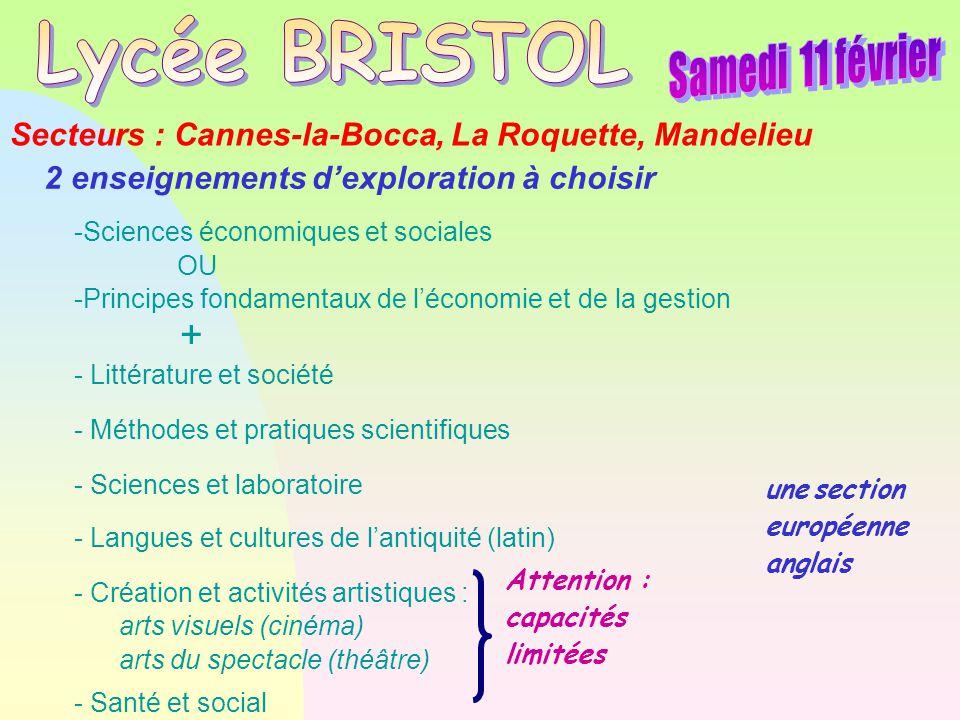 Lycée BRISTOL Samedi 11 février