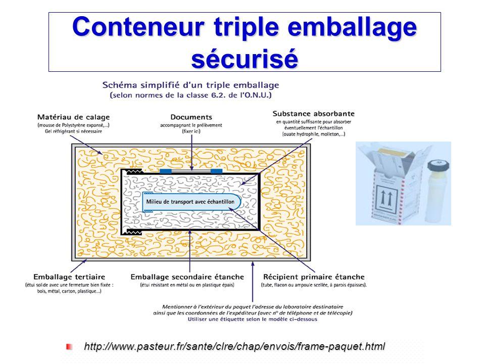 Conteneur triple emballage sécurisé