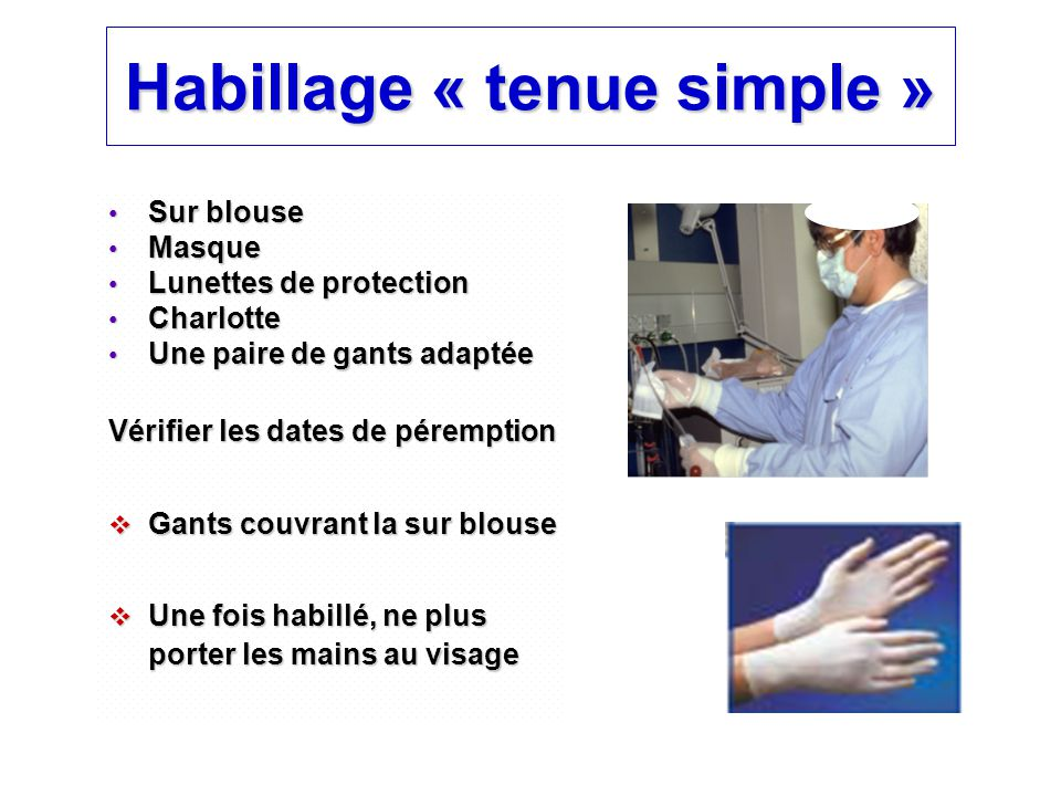 Habillage « tenue simple »