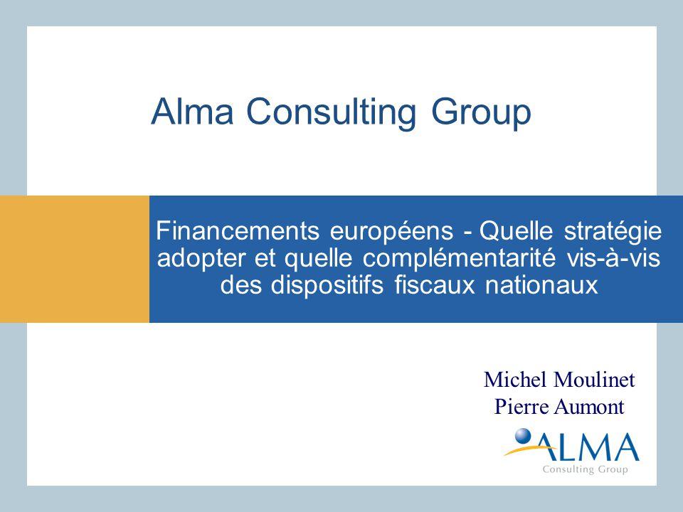 Présentation Alma Consulting Group - Mission optimisation des coûts sociaux